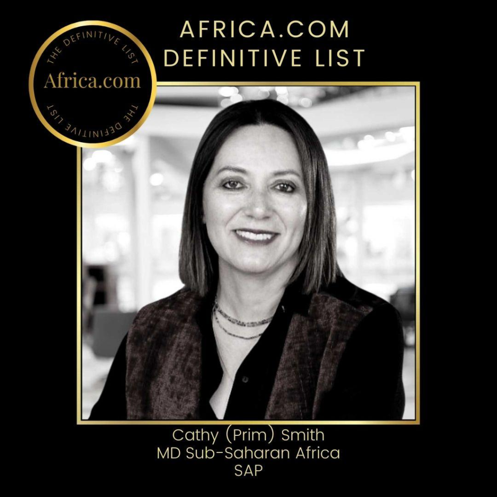 Cathy Smith of SAP Africa Scores a Spot on the Africa.com Definitive List of Women CEOs of the Biggest & Most Complex Businesses in Africa